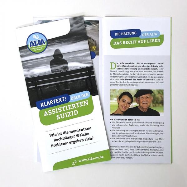 ALfA Flyer – Klartext! über den assistierten Suizid