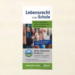 ALfA Flyer – Lebensrecht in der Schule