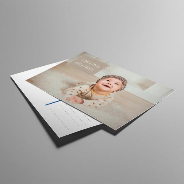 ALfA Postkarten – I'm a child not a choice