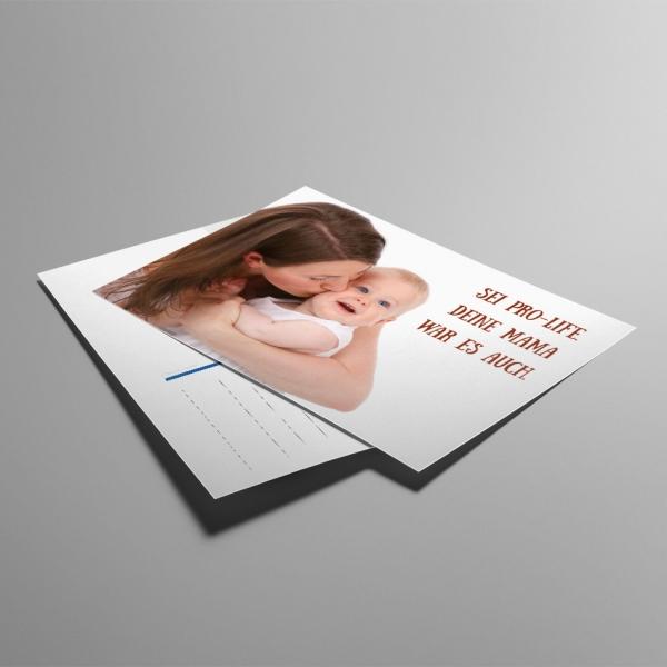ALfA Postkarten – Sei ProLife. Deine Mama war es auch
