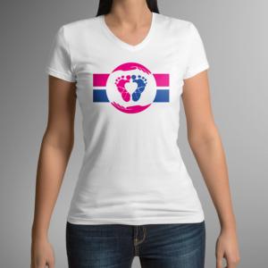 T-Shirt Studioaufnahme Pro Life Flagge Damen – ALfA e.V.